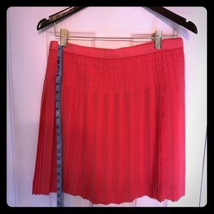 🍑J.Crew coral pleated skirt *Size 6* ✨gorg✨
